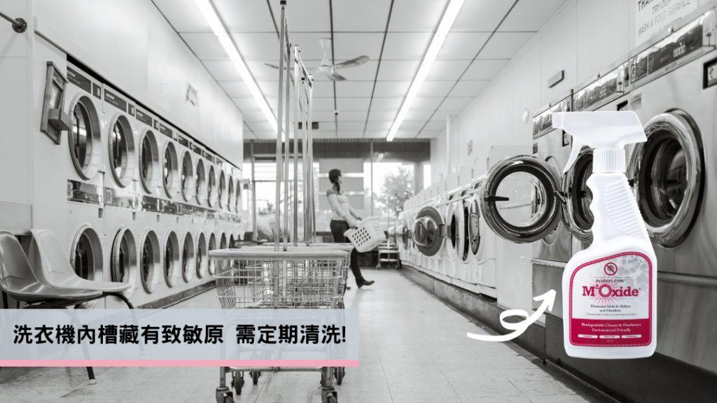 洗衣機內槽藏有致敏原需定期清潔