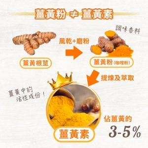 薑黃粉和薑黃素的分別和功效