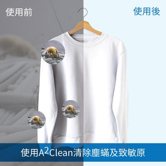 使用後有效清除塵蟎及致敏原,解決塵蟎過敏